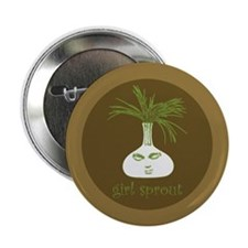"""Girl Sprout 2.25"""" Button (10 pack)"""