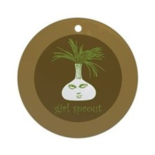 Girl Sprout Ornament (Round)