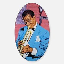 Satchmo on Bourbon Street Sticker (Oval)
