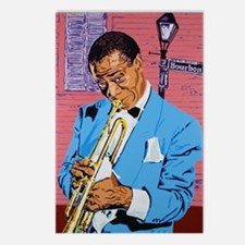 Satchmo on Bourbon Street Postcards (Package of 8)