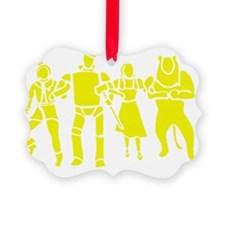 Wizard of Oz Stencil Art Ornament