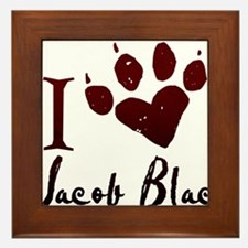 I heart Jacob Black Framed Tile
