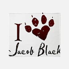 I heart Jacob Black Throw Blanket