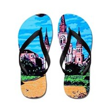 New Orleans is UFO Country #1 Flip Flops