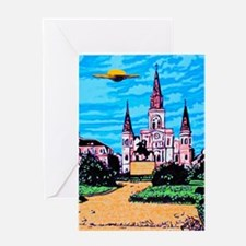 New Orleans is UFO Country #1 Greeting Card