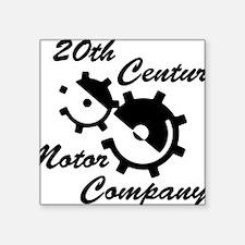 """20th Century Motor Company Square Sticker 3"""" x 3"""""""