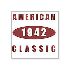 """1942 American Classic Square Sticker 3"""" x 3"""""""