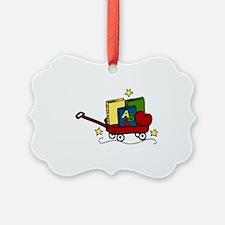 Book Wagon Ornament