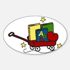 Book Wagon Sticker (Oval)