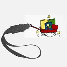 Book Wagon Luggage Tag