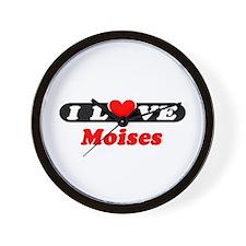 I Love Moises Wall Clock