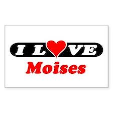 I Love Moises Rectangle Decal