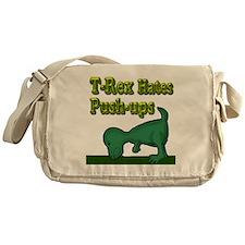 T-Rex hates push-ups Messenger Bag