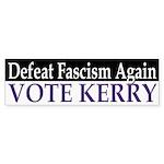 Defeat Fascism, Vote Kerry (sticker)