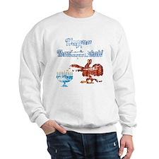 Vintage Happy Thanksgivukkah 4 Sweatshirt