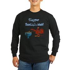 Vintage Happy Thanksgivukkah 4 Long Sleeve T-Shirt