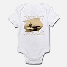 Cute Uss enterprise cvn 65 Infant Bodysuit