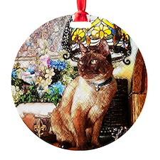 Tonkinese under Tiffany Lamp Ornament