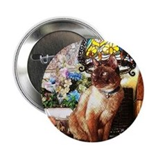 "Tonkinese under Tiffany Lamp 2.25"" Button"