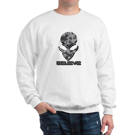 Grey Marble Believe Alien Sweatshirt
