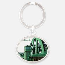 Park Street Bridge Shirt Oval Keychain