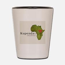 Kupenda Logo (Beige Bkgrd) Shot Glass