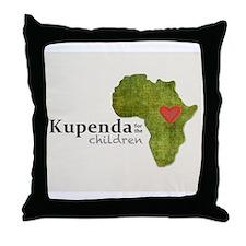 Kupenda Logo (Beige Bkgrd) Throw Pillow