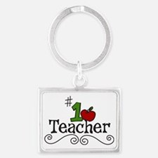 School Teacher Landscape Keychain