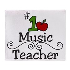 Music Teacher Throw Blanket