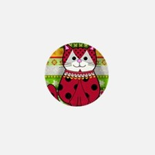 Ladybug Cat Mini Button