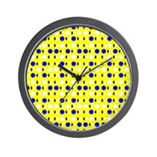 Yellow  Blue Sunshines Shapes Designer Wall Clock