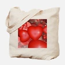 Fractal Hearts Tote Bag