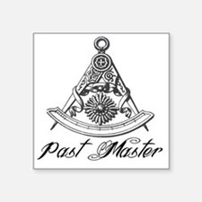 "Past Master with Jewel Square Sticker 3"" x 3"""