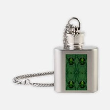 Green Emerald Jewels Flask Necklace
