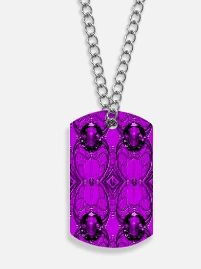 Purple Jewels Dog Tags