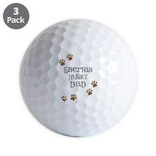 Siberian Husky Dad Golf Ball
