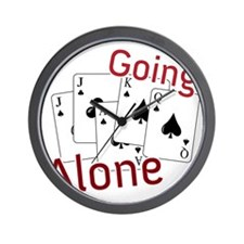 Going Alone Wall Clock