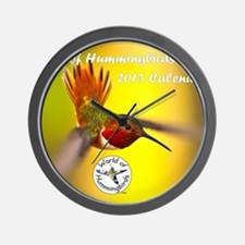 World of Hummingbirds .com - Cover Wall Clock