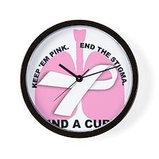 Keep Em Pink Wall Clock