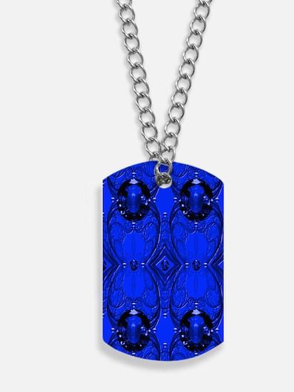 Blue Sapphire Jewels Dog Tags