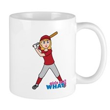 Softball Girl Red and Grey Mug