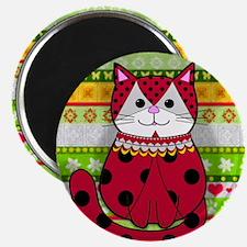 Ladybug Cat Magnet