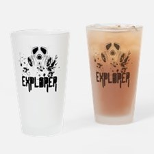 EXPLORER - BLACK TEXT Drinking Glass