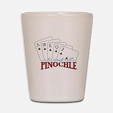 Pinochle Cards Shot Glass