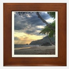 Costa Rica Beach Sunset Framed Tile