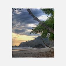 Costa Rica Beach Sunset Throw Blanket