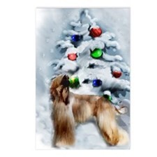 Afghan Hound Christmas Postcards (Package of 8)