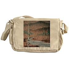 Stream in Winter Messenger Bag