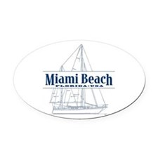 Miami Beach - Oval Car Magnet