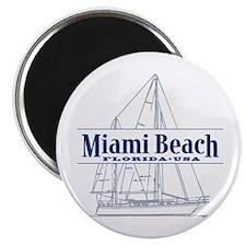 "Miami Beach - 2.25"" Magnet (10 pack)"